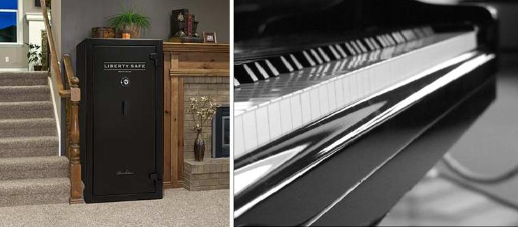 piyano ve çelik kasa taşıma